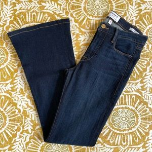 Frame Denim Le High Flare Jeans Dark Wash Size 27
